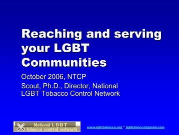 download file - National LGBT Tobacco Control Network