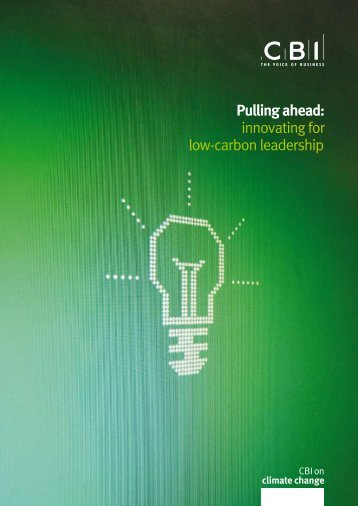 Pulling ahead: innovating for low-carbon leadership - The Skills ...