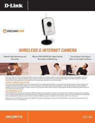 WIRELESS G INTERNET CAMERA - Sievers Security