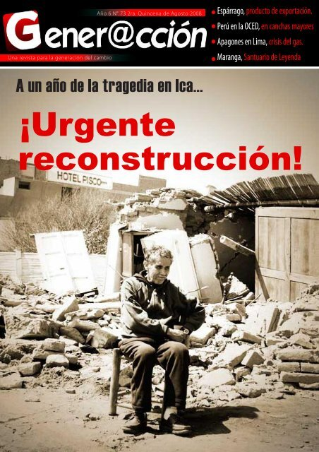 ¡Urgente reconstrucción! - Generaccion.com