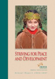 Striving for Peace and Development - Heifer International