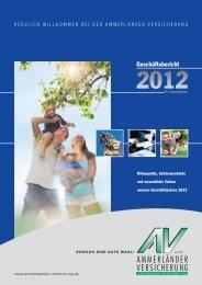 Geschäftsbericht 2012 - Ammerländer Versicherung