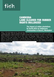 cambodia land cleared for rubber rights bulldozed - European ...