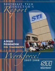 Workforce! - STInet - Southeast Technical Institute