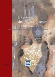 La réforme du système électoral au Burkina Faso La ... - AfriMAP