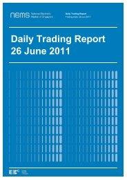 Daily Trading Report 26 June 2011 - EMC