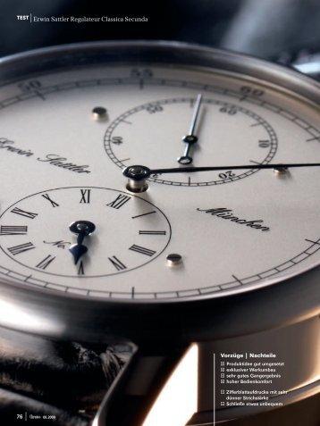 test: erwin sattler: regulateur classica secunda - Watchtime.net