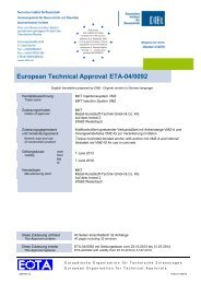 ETA-04/0092 - MKT Metall-Kunststoff-Technik GmbH & Co. KG