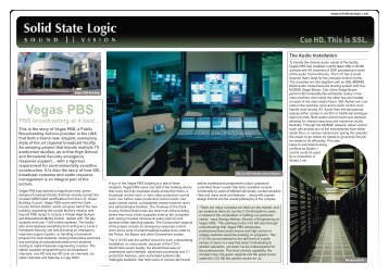 C10 HD @ Vegas PBS - Solid State Logic