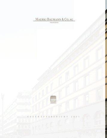 Download PDF - Maerki Baumann & Co. AG