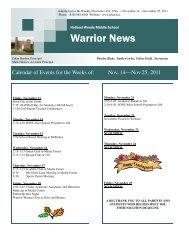 Bi-Weekly Vol 4 No. 6 - November 25, 2011 - Port Huron Area Schools