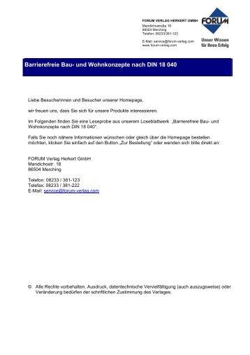 Betreutes Wohnen - Forum Verlag Herkert GmbH