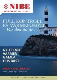 Proffsnytt nr 1/2011 - Nibe