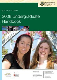 Handbook 2008 Undergraduate - School of Tourism - University of ...
