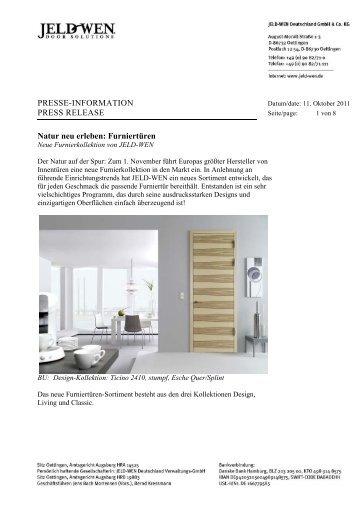 PRESSE-INFORMATION PRESS RELEASE ... - JELD-WEN Türen