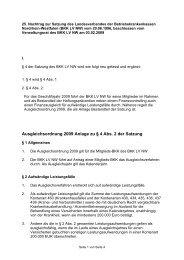 Ausgleichsordnung 2009 Anlage zu § 4 Abs. 2 der Satzung - BKK ...