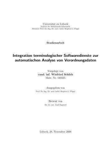 Integration terminologischer Softwaredienste zur ... - Schoech.de