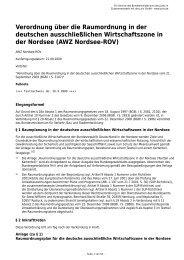 Verordnung über die Raumordnung in der deutschen ...