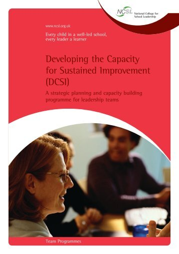 Developing the Capacity for Sustained Improvement (DCSI) - Go Wild