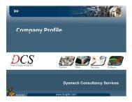 Company Profile Company Profile - Dysmech Consultancy Services