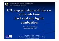 CO sequestration with the use of fly ash from hard coal and lignite ...