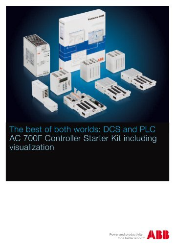 DCS and PLC AC 700F Controller Starter Kit including visualization