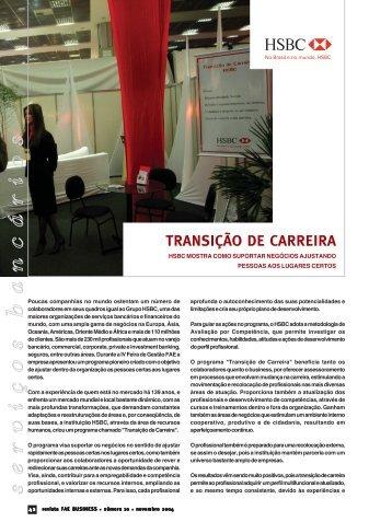 Transição de carreira - HSBC