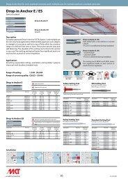 Drop-in Anchor E / ES - MKT Metall-Kunststoff-Technik GmbH & Co ...