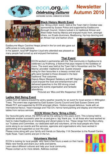 ECCN newsletter Autumn 2010 Sal's defo to print - Eastbourne ...