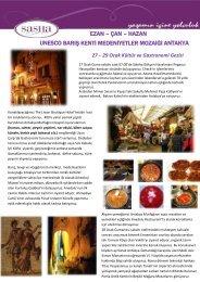 29 Ocak Kültür ve Gastronomi Gezisi - Sasha Turizm