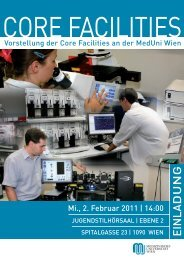 core facilities - Termine-meduniwien.at