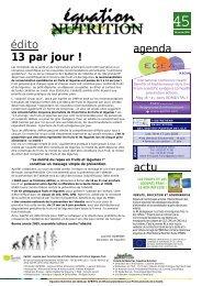 édito agenda actu 13 par jour ! - 10 par jour