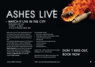 – WATCH IT LIVE IN THE CITY DON' T MISS OUT, BOOK NOW