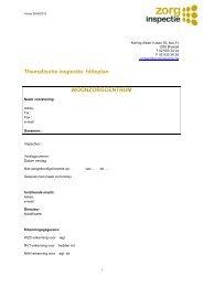 Thematische inspectie: hitteplan