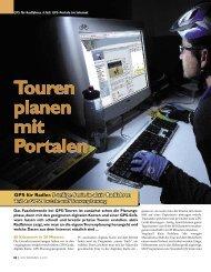 Touren planen mit Portalen - Bayernbike.de