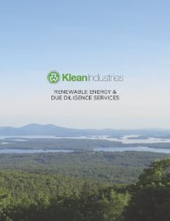 Klean Renewable Energy & Due Diligence Services - Klean Industries
