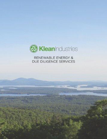 Klean Renewable Energy & Due Diligence Services - Klean Industries