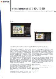Industriesteuerung SE-604/SE-606 - Stange Elektronik GmbH
