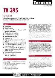 Terokal 395 Datasheet [ 164 KB PDF ] - Raven Roofing Supplies