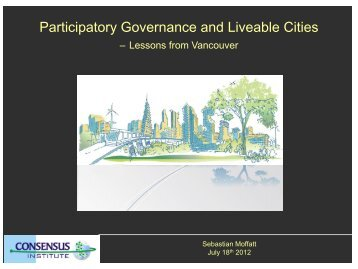 Participatory Governance and Liveable Cities