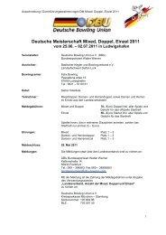Deutsche Meisterschaft Mixed, Doppel, Einzel 2011 - WBU