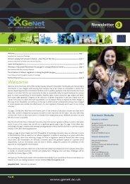 GeNet Newsletter #3