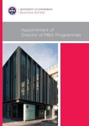 Appointment of Director of MBA Programmes - University of ...