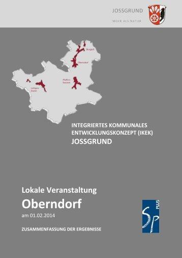 Lokale Veranstaltung Oberndorf Zusammenfassung der ... - Jossgrund