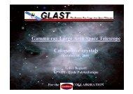 Gamma-ray Large Area Space Telescope Calorimeter ... - Villa Olmo