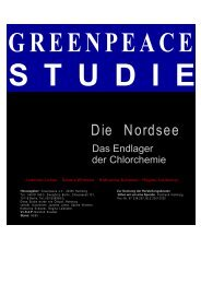 Die Nordsee - Das Endlager der Chlorchemie - Greenpeace-Gruppe ...