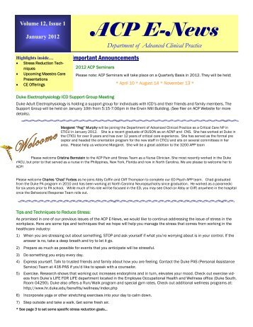 January 2012 draft - Advanced Clinical Practice