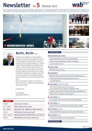 newsletter No 5 Oktober 2011 - wab.biz