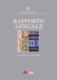 Rapporto annuale 2008 - Cultura in Cifre - Istat