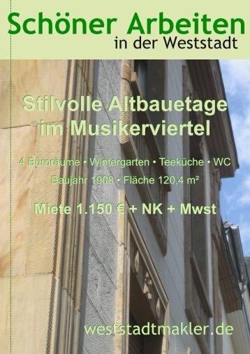 Stilvolle Altbauetage im Musikerviertel - weststadtmakler.de